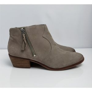 Sam Edelman Taupe Putty Ankle Booties Size 8.5